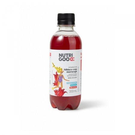Bebida Kombucha Nutrigood Hibisco com Maracujá 300ml