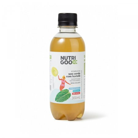 Bebida Kombucha Nutrigood Uva-Verde com Hortelã 300ml