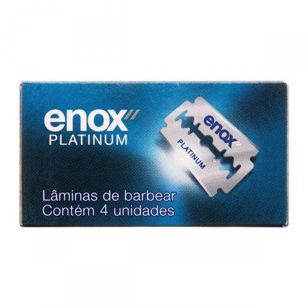 Lâminas de Barbear Duplo Fio Enox Platinum com 4 unidades