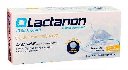 Lactase Lactanon 10000 FCC Alu com 30 tabletes