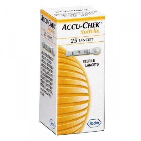 Lancetas Accu Chek Softclix Controle de Glicose com 25 lancetas