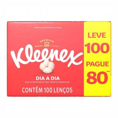 Lenço de Papel Kleenex com 100 Unidades