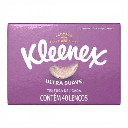 Lenço de Papel Kleenex Ultra Suave com 40 Unidades
