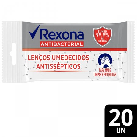 Lenço Umedecido Antisséptico Rexona Antibacterial 20 Unidades |