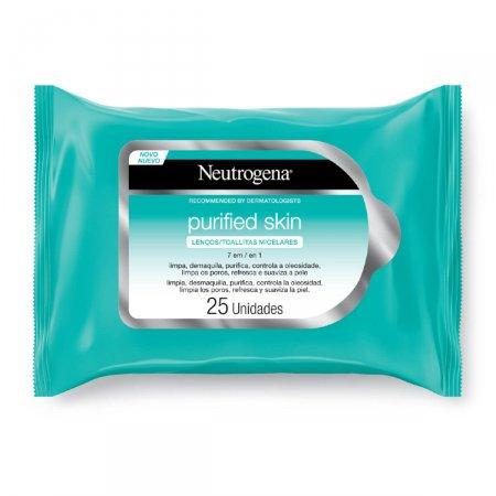 Lenço Micelar Neutrogena Purified Skin 7 em 1