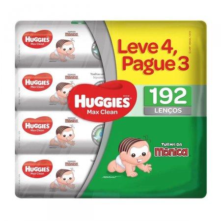 Lenço Umedecido Huggies Max Clean com 192 unidades