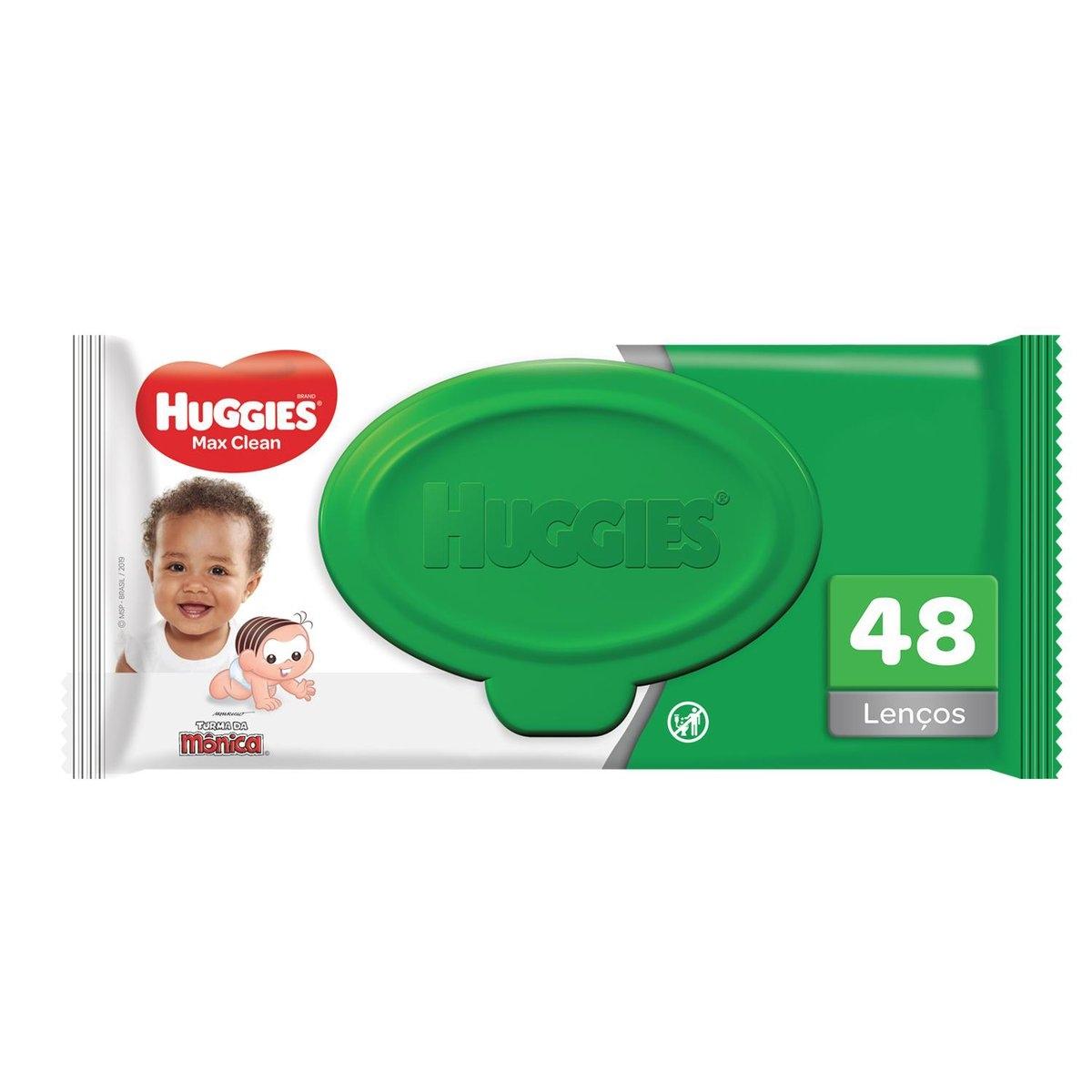 Lenço Umedecido Huggies Max Clean com 48 unidades 48 Unidades