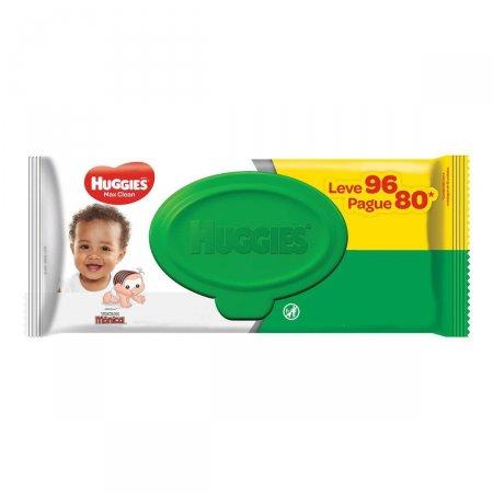 Lenço Umedecido Huggies Max Clean com 96 unidades