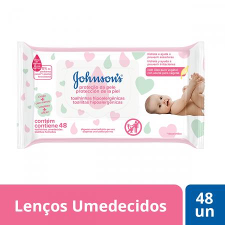 Lenço Umedecido Johnson's Extra Cuidado com 48 unidades