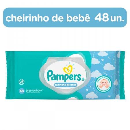 Lenços Umedecidos Pampers Cheirinho de Bebê com 48 unidades