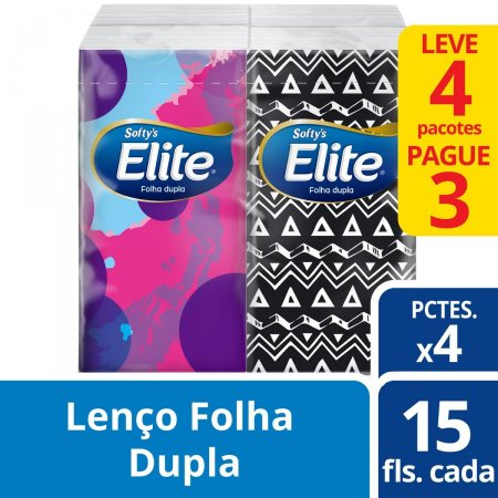 Kit Lenços de Papel de Bolso Elite Softy's