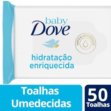 Lenço Umedecido Baby Dove Hidratação Enriquecida com 50 Unidades