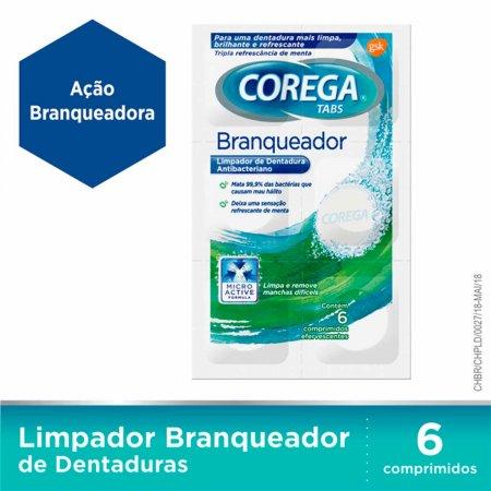 Limpador de Prótese Corega Tabs Branqueador 6 Comprimidos
