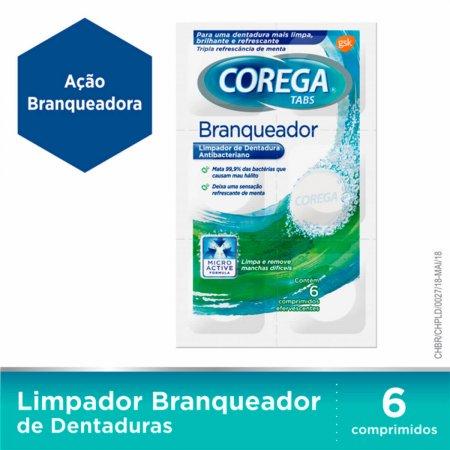 Limpador de Prótese Corega Tabs Branqueador com 6 Comprimidos