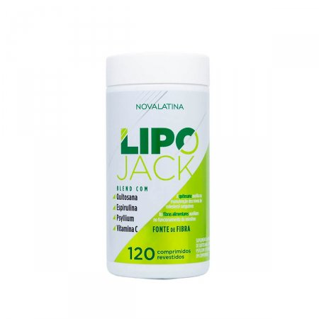 Suplemento Alimentar Lipo Jack Novalatina com 120 comprimidos
