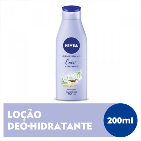 Loção Deo-Hidratante Nivea Óleo Essenciais Coco