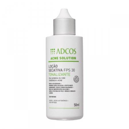 Loção Secativa Facial Adcos Tonalizante Acne Solutions FPS30