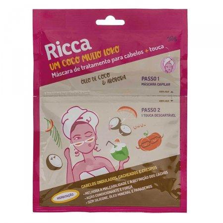 Máscara de Tratamento Capilar Ricca Hidratação Òleo de Coco e Abóbora 30g |