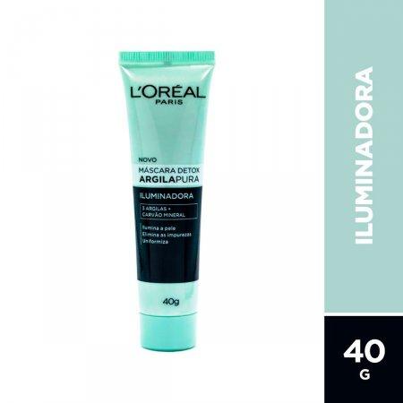 Máscara Facial Detox L'Oréal Argila Pura Iluminadora