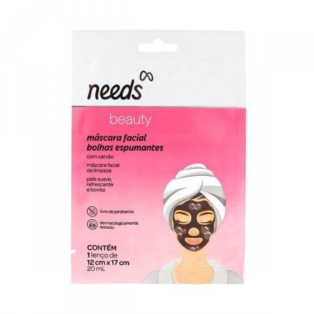 Máscara Facial Needs Beauty Bolhas Espumantes 1 Unidade  