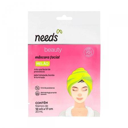 Máscara Facial de Prebióticos Needs Beauty Melão 20ml  
