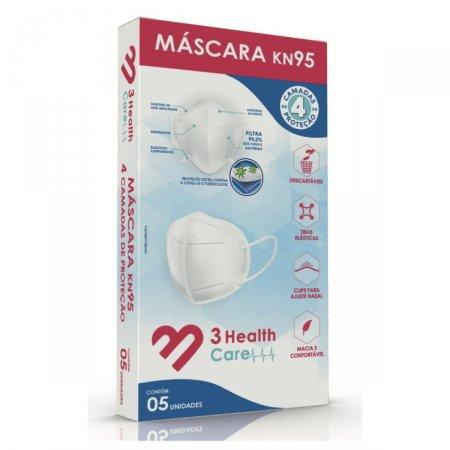 Máscara KN95 3 Health Quatro Camadas com 5 Unidades