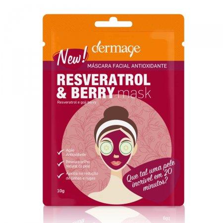 Máscara Facial Antioxidante Dermage Resveratrol e Berry