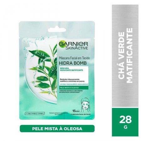 Máscara Facial Matte Garnier SkinActive Hidra Bomb Chá Verde