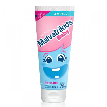 Gel Dental Malvatrikids Baby Sabor Tutti-Frutti