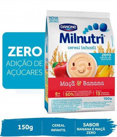 Cereal Infantil Milnutri Mingau de Banana e Maçã