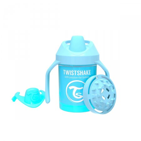 Copo de Treinamento Twistshake Mini Cup Azul 4+ Meses