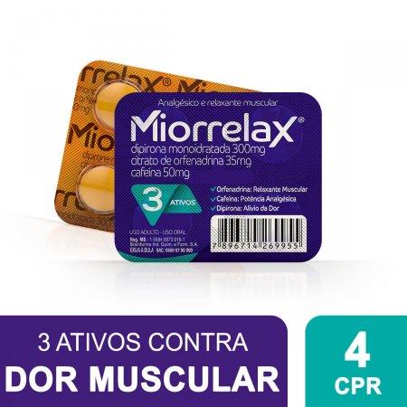 Miorrelax com 4 Comprimidos Foto 2