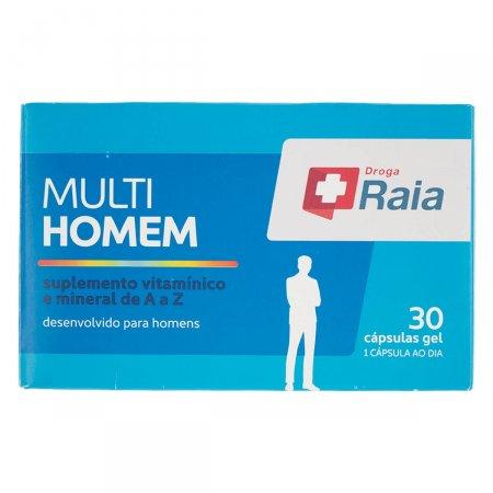 Suplemento Vitamínico e Mineral Droga Raia Multi Homem