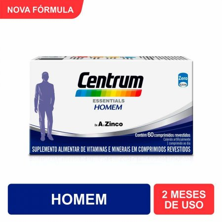 Multivitamínico Centrum Essentials Homem de A a Zinco com 60 Comprimidos