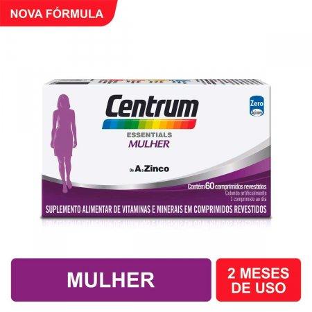 Multivitamínico Centrum Essentials Mulher de A a Zinco com 60 Comprimidos
