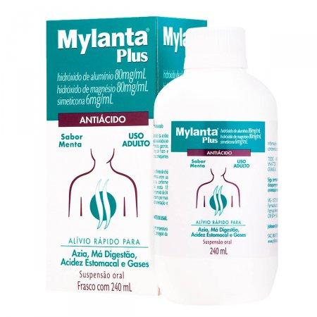 Antiácido Mylanta Plus Sabor Menta Suspensão Oral com 240ml