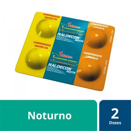 Naldecon Noite com 4 comprimidos