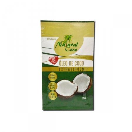 Óleo de Coco Extravirgem Natural Coco Sachê com 15ml