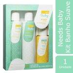 Kit Shampoo + Condicionador + ... Kit Shampoo + Condicionador + Água de Colônia Needs Baby Suave