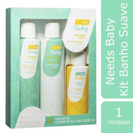 Kit Needs Baby Suave Shampoo + Condicionador + Água de Colônia Foto 1