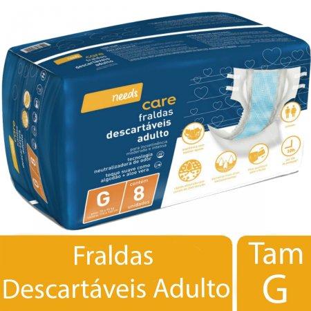 Fralda Descartável Needs Care Adulto Tamanho G