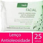 Lenços Umedecidos Facial Needs Antioleosidade Hipoalergênico 25 Lenços