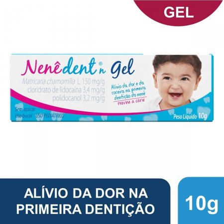 Nenê Dent 150mg/g + 3,4mg/g + 3,2mg/g Gel Sem Açúcar com 10g