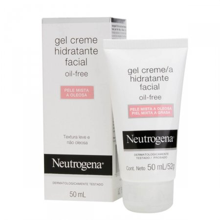 Gel Creme Hidratante Facial Neutrogena Oil-Free para Pele Mista a Oleosa