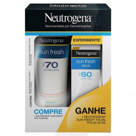 Kit Protetor Solar Neutrogena Sun Fresh com 1 Protetor Corporal FPS 70 de 200ml + 1 Protetor Facial FPS 60 de 50ml