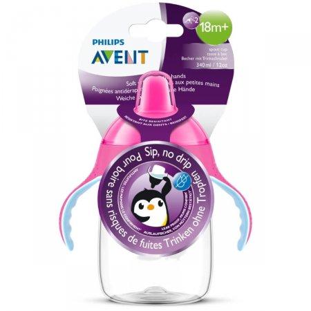 Copo Pinguim com Bico Philips Avent Rosa