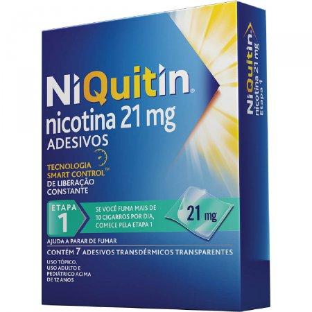 Adesivos para Parar de Fumar NiQuitin 21mg com 7 unidades