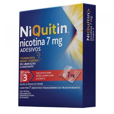 NiQuitin 7mg Adesivos para Parar de Fumar com 7 unidades