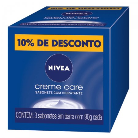 Kit Sabonete Barra Nivea Creme Care