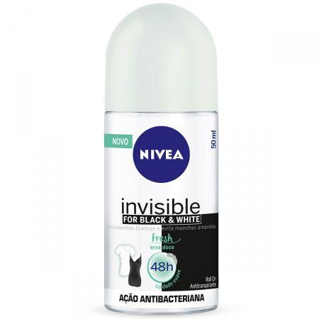 Desodorante Roll on Nivea Invisible For Black & White Fresh